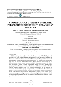 A SMART CAMPUS OVERVIEW OF ISLAMIC PERSPECTIVES IN UNIVERSITI KEBANGSAAN MALAYSIA