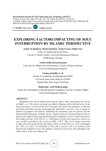 EXPLORING FACTORS IMPACTING OF SOUL INTERRUPTION BY ISLAMIC PERSPECTIVE