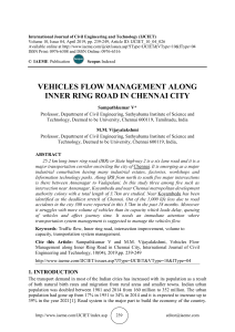 VEHICLES FLOW MANAGEMENT ALONG INNER RING ROAD IN CHENNAI CITY