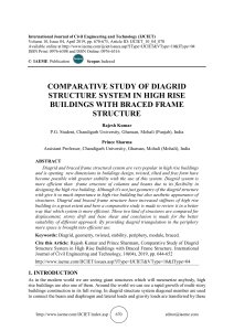COMPARATIVE STUDY OF DIAGRID STRUCTURE SYSTEM IN HIGH RISE BUILDINGS WITH BRACED FRAME STRUCTURE