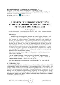 A REVIEW OF AUTOMATIC BERTHING SYSTEMS BASED ON ARTIFICIAL NEURAL NETWORKS FOR MARINE SHIP