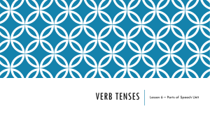 Lesson 6 - Verb Tenses Unit - Year 6