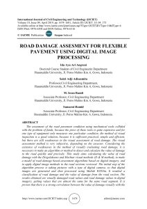ROAD DAMAGE ASSESMENT FOR FLEXIBLE PAVEMENT USING DIGITAL IMAGE PROCESSING