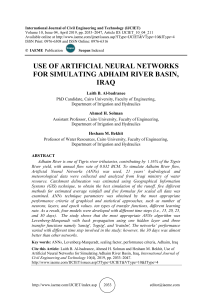 USE OF ARTIFICIAL NEURAL NETWORKS FOR SIMULATING ADHAIM RIVER BASIN, IRAQ