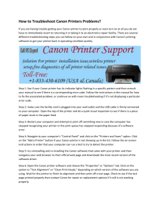 How to Troubleshoot Canon Printers Problems