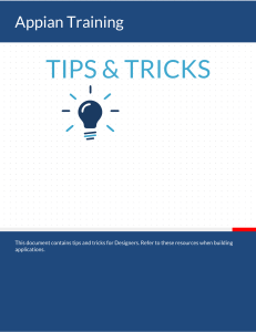 Appian Tips and Tricks (version 1)