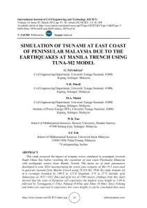 SIMULATION OF TSUNAMI AT EAST COAST OF PENINSULAR MALAYSIA DUE TO THE EARTHQUAKES AT MANILA TRENCH USING TUNA-M2 MODEL