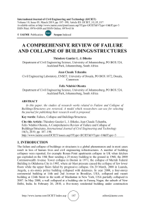 A COMPREHENSIVE REVIEW OF FAILURE AND COLLAPSE OF BUILDINGS/STRUCTURES