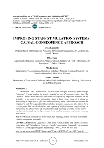 IMPROVING STAFF STIMULATION SYSTEMS: CAUSAL-CONSEQUENCE APPROACH