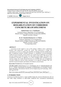 EXPERIMENTAL INVESTIGATION ON REHABILITATION OF CORRODED CONCRETE BEAM SPECIMENS