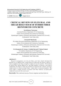 CRITICAL REVIEW ON FLEXURAL AND SHEAR BEHAVIOUR OF HYBRID FIBER REINFORCED CONCRETE