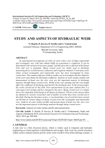 STUDY AND ASPECTS OF HYDRAULIC WEIR