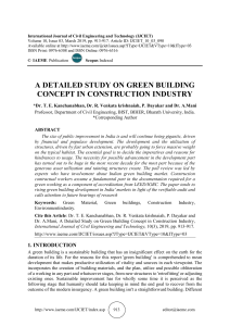 A DETAILED STUDY ON GREEN BUILDING CONCEPT IN CONSTRUCTION INDUSTRY