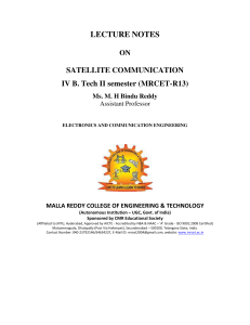Sattelite Communications
