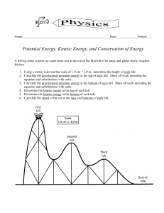 Roller Coaster worksheet
