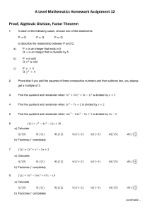 A1 Maths HW Assignment 12