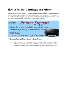 How to Put Ink Cartridges in a Printer