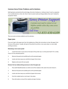 Common Xerox Printer Problems and its Solutions