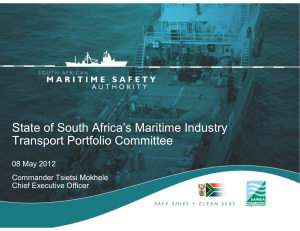South Africa's  Maritime industry
