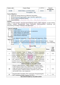 EE488 INDUSTRILAL AUTOMATION KTU SYLLABUS