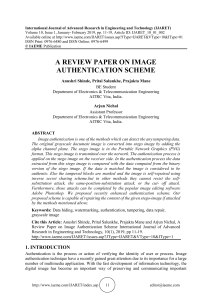 A REVIEW PAPER ON IMAGE AUTHENTICATION SCHEME