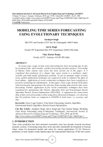 MODELING TIME SERIES FORECASTING USING EVOLUTIONARY TECHNIQUES