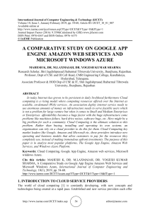 A COMPARATIVE STUDY ON GOOGLE APP ENGINE AMAZON WEB SERVICES AND MICROSOFT WINDOWS AZURE