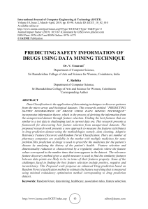 PREDICTING SAFETY INFORMATION OF DRUGS USING DATA MINING TECHNIQUE