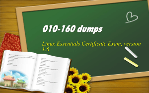 Lpi Linux Essentials 010-160 real dumps