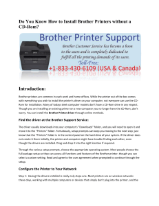 How to Install Brother Printers without a CD