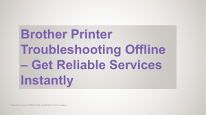 Brother Printer Troubleshooting Offline  Get Reliable Services Instantly