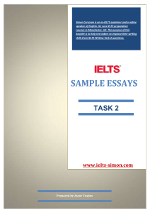 SAMPLE ESSAYS TASK 2 (1)