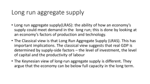 Long run aggregate supply