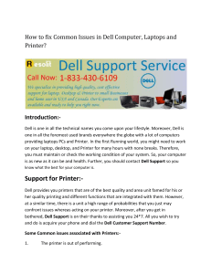 How to fix Common Issues in Dell Computer and Printer
