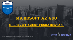 AZ-900 Dumps Exam Question - Exams Question Answers PDF | Dumps4download.com