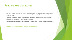 Key signatures and theory