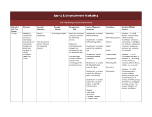 Sports and Entertainment Marketing Curriculum