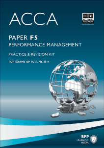 ACCA F5 - Performance Management Practic