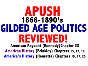 gilded age politics American Pageant Chapter 24