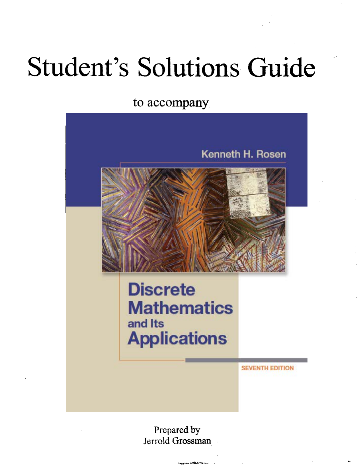 Discrete Mathematics And Its Applications 6th Edition Manual Guide