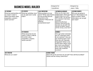 BUSINESS MODEL TEMPLATE W Qs