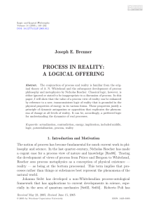 Brenner, J.E. Process in Reality