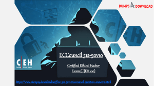 Get 312-50v10 Exam Q&A Quickly For Ethical Hacker Exam With Free Valid Experts Tips Only On Dumps4Download.us