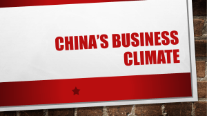 China's business climate