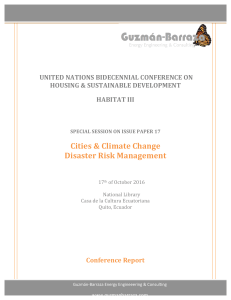 UN HABITAT III_Cities & Climate Change Disaster Risk Management_Conference Summary. Ecuador 2015