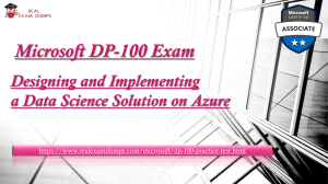 Get To-The-Point Written Study Material By Experts For Microsoft Azure (DP-100) Certification Offered By Realexamdumps.com