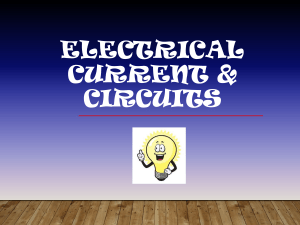 ElectricCurrent&Circuits