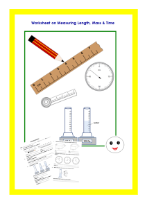 Measurement Worksheet