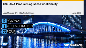 SAP S4-HANA-Product-Logistics-Functionality
