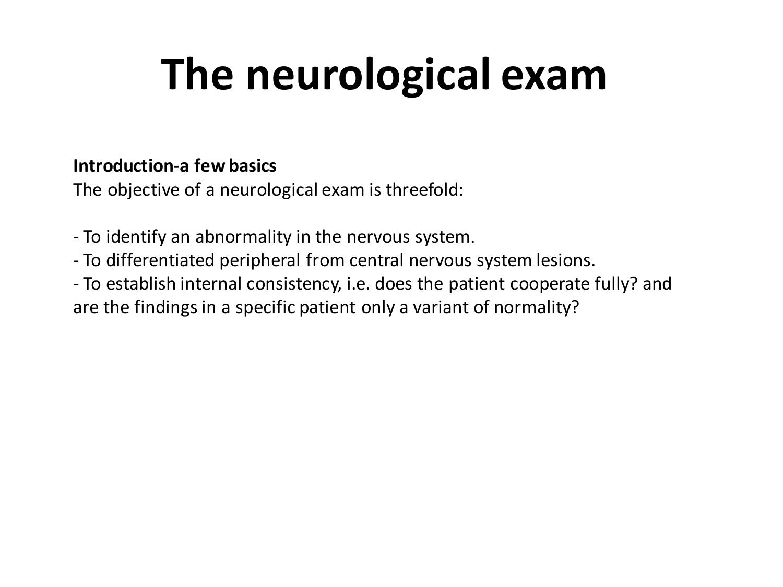 Neurological examination (clinical assessment)